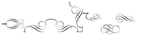 Decor Font LOWERCASE