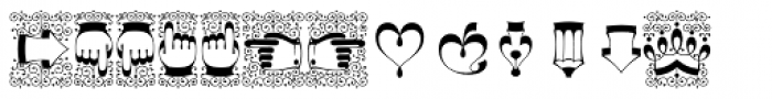 Decorata Dingbats Font UPPERCASE