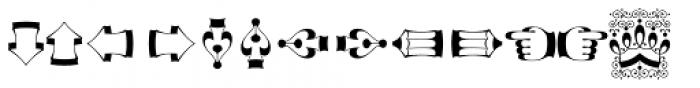 Decorata Dingbats Font LOWERCASE