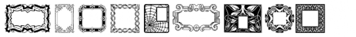 Decorative Boxes Font UPPERCASE