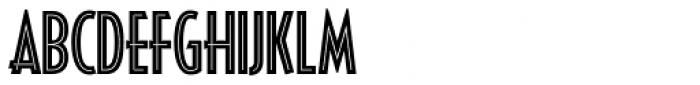 Decotura ICG Inline Font UPPERCASE