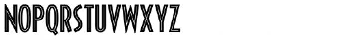 Decotura ICG Inline Font LOWERCASE
