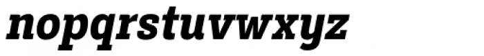Decour Condensed Black Italic Font LOWERCASE