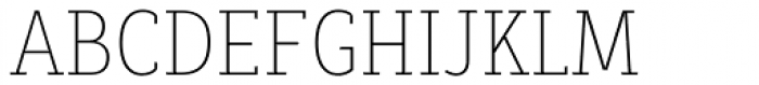 Decour Condensed Thin Font UPPERCASE