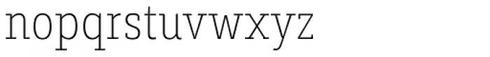 Decour Condensed Thin Font LOWERCASE