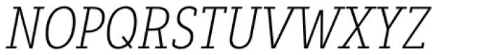 Decour Condensed Ultralight Italic Font UPPERCASE