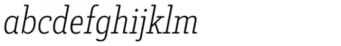 Decour Condensed Ultralight Italic Font LOWERCASE