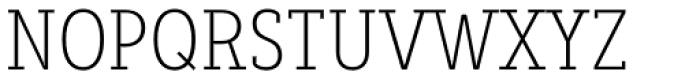 Decour Condensed Ultralight Font UPPERCASE