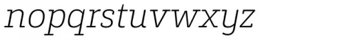 Decour Soft Ultralight Italic Font LOWERCASE
