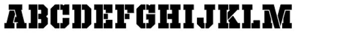 Defense Black Font UPPERCASE