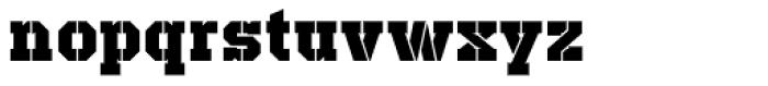 Defense Black Font LOWERCASE