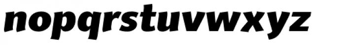 Delargo DT Informal Black Italic Font LOWERCASE