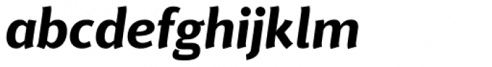 Delargo DT Informal Bold Italic Font LOWERCASE