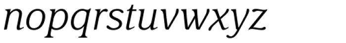 Delima Pro Light Italic Font LOWERCASE
