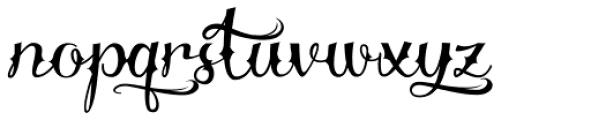 Delinquente Font LOWERCASE