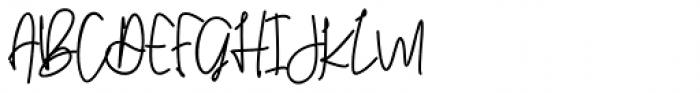 Dellarose Regular Font UPPERCASE