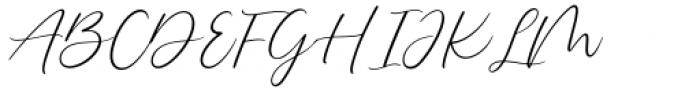 Delmon Delicate Script Font UPPERCASE