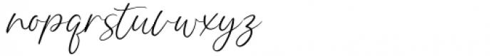 Delmon Delicate Script Font LOWERCASE