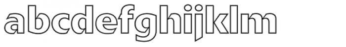 Delta Jaeger Outline Font LOWERCASE