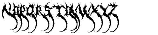 Dementia Swash Font LOWERCASE