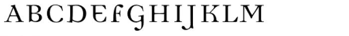 Democratica Regular Font UPPERCASE