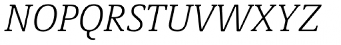 Demos Next Light Italic Font UPPERCASE