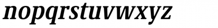 Demos Next Pro Cond Bold Italic Font LOWERCASE