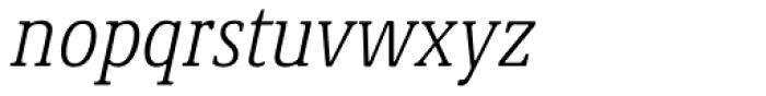 Demos Next Pro Cond Light Italic Font LOWERCASE