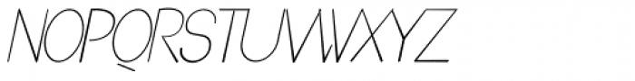 Denigan Oblique Font UPPERCASE
