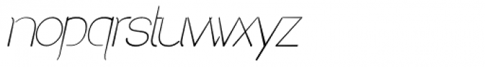 Denigan Oblique Font LOWERCASE