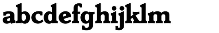 Derringer Serial ExtraBold Font LOWERCASE
