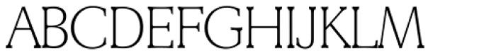 Derringer Serial ExtraLight Font UPPERCASE