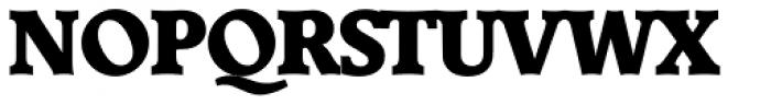Derringer Serial Heavy Font UPPERCASE