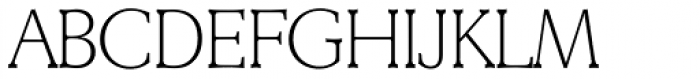 Derringer TS ExtraLight Font UPPERCASE