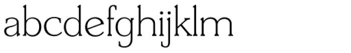 Derringer TS ExtraLight Font LOWERCASE