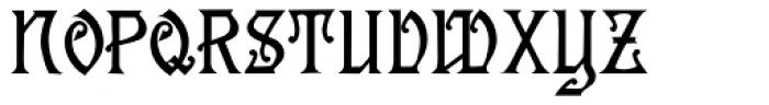 Descant Font UPPERCASE