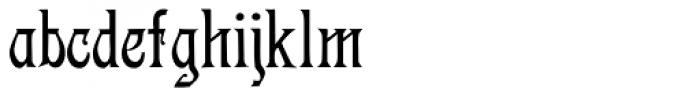 Descant Font LOWERCASE