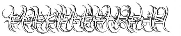 Descent Classic Outline Font UPPERCASE