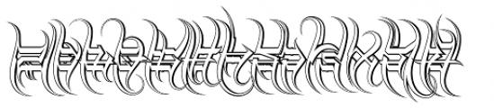 Descent Classic Outline Font LOWERCASE