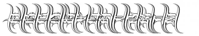 Descent Outline Font UPPERCASE