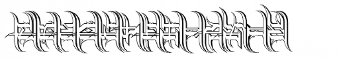 Descent Outline Font LOWERCASE