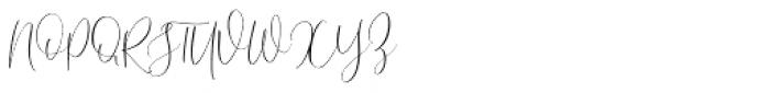 Desert Song Regular Font UPPERCASE
