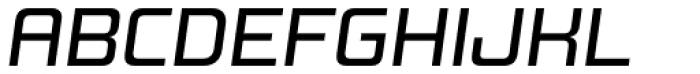 Design System B 500 Italic Font UPPERCASE