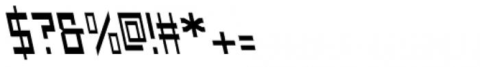 Designator Backslant Font OTHER CHARS