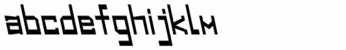 Designator Backslant Font LOWERCASE