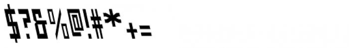 Designator Condensed Backslant Font OTHER CHARS