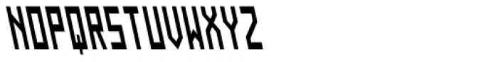 Designator Condensed Backslant Font UPPERCASE