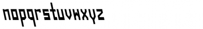 Designator Condensed Backslant Font LOWERCASE