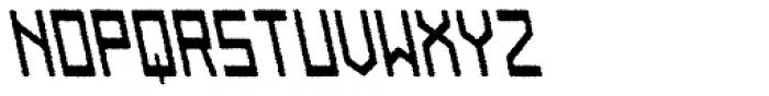 Designator Rough Backslant Font UPPERCASE