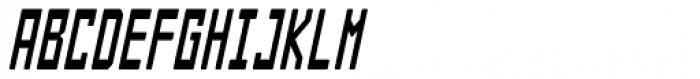 Designator Rounded Condensed Italic Font UPPERCASE